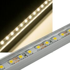 LED Leiste in Alu-Profil WARMWEIß 60 SMD 50cm starr, IP65, Strip Unterbauleuchte