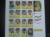 Panini WC France 1998 98 Iran set