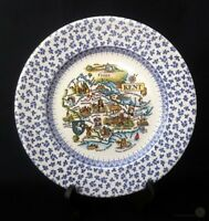 English Ironstone Blue And White Chintz Kent Plate 14.5cm | FREE Delivery UK*