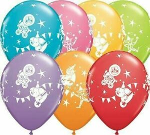 Pack of 6 Round Circus Parade Latex Balloon, 11-Inch