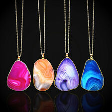 New Natural Crystal Quartz Healing Point Chakra Bead Gemstone Necklace Pendant