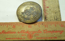 Vintage brass Indian badge pin old motorcycle collectible biker pinback button