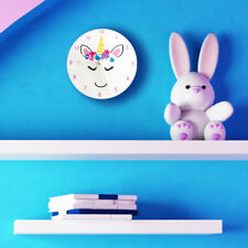 UNICORN MAGICAL STAR CUTE PASTEL Wall Clock - Bedroom clock for girls bedroom