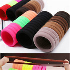 100/400PCS Elastic Women Girl Hair Band Ties Rope Ring Hairband Ponytail Holder