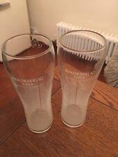 2 X  Brand New Tall Pint Stunning Rekorderlig  Cider Glasses