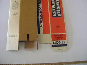 Lionel 2242 New Haven  AB  Engine Licensed Reproduction Boxes
