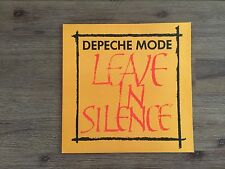 """Depeche Mode – Leave In Silence 12"""" UK Mute – 12 BONG 1 TEXTURED COVER"""