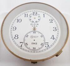 New listing Vintage 1943 Elgin 600 Ships Chronometer Deck Clock Movement Case Parts