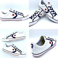 Converse 164724C Star Player OX White/Navy Blue/Gym Red Men's size 11 Low