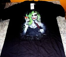 NWT GDA Daveed Benito GIRL JOKER WITH KNIFE AND CARD BLACK COTTON T-Shirt Small