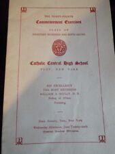 1957 Catholic Central High School Troy New York Commencement Exercises Program