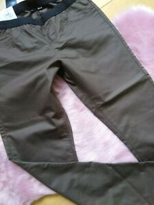 ★ Jeggings Leggings ★ Esmara Gr. 42 braun Metallic - Look Glanz Leder Optik NEU!