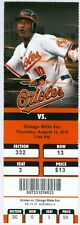 2011 Orioles vs White Sox Ticket: Nick Markakis hit his 100th career home run