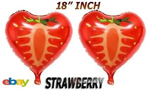 "18"" Fruit Design Round Shape Foil Quality Ballons Helium Birthday Kids Party UK"
