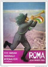 BERSAGLIERI XVIII° RADUNO NAZIONALE 23-24 MARZO 1963 ROMA NON VIAGGIATA C.639