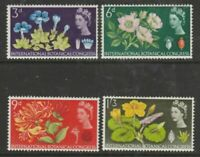 1964 The 10th Int Botanical Congress Edinburgh Flowers Used Postage Stamps