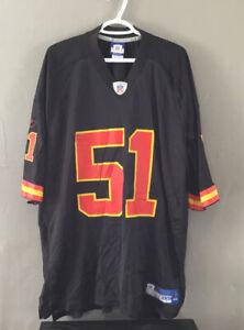 NFL Reebok Kansas City Chiefs Fujita 51 Jersey XXL Black D