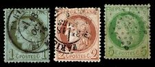 1870-72 FRANCE #50,51 & 53 - EARLY DEFINITIVES - USED - F/VF - CV $36 (ESP#8536)