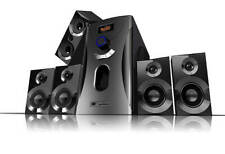 Surround-Sound-System 5.1 Heimkino 160 Watt MP3 Radio schwarz Lautsprecher Boxen