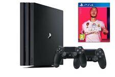 Sony PlayStation 4 Pro 1TB Consola con 2 Controles Dualshock - Negro + Fifa 20