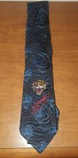 Ed Hardy Black & Blue Tiger Silk Tie by Christian Audigier