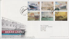 TALLENTS PMK GB ROYAL MAIL FDC FIRST DAY COVER 2004 OCEAN LINERS STAMP SET