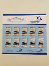 2005 Pacific Explorer World Stamp Expo Shaw Savill Lines Sheetlet of 10 MUH
