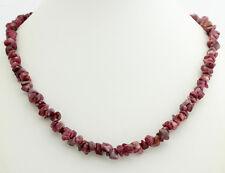 NATUR RUBIN aus Indien SPLITTERKETTE (ca.45cm,Kette,Edelsteine,Halskette,Rot)