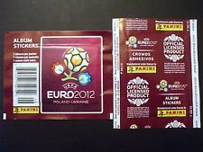 BUSTINA PACKET SOBRE PANINI UEFA EURO 2012 USA RETRO VERTICALE/VERTICAL BACK