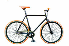"WOO HOO BIKES - ORANGE 19"" - Fixed Gear Bicycle, Fixie, One Gear, Track Bike"
