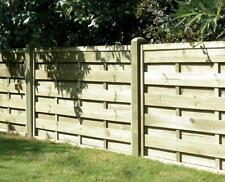 Square Horizontal Decorative Fence Panel 6ft x 3ft Pressure Treated