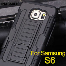 3in1 Tough Military Builder Armour Stand Belt Case for Galaxy S5 6 7 Edg Note3 4