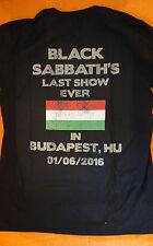 Black Sabbath The End Tour 2016 , Hungary Budapest 1/6/2016  T-Shirt Size  Large