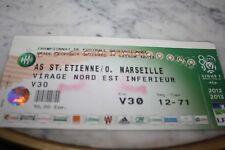 TICKET )) ASSE ST ETIENNE V MARSEILLE OM ))  saison 2012/2013