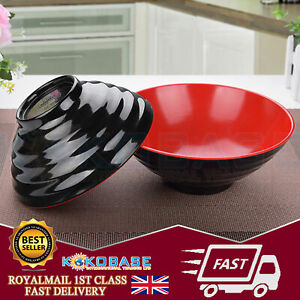 1x Black Oriental Chinese Japanese Ramen Noodle Plastic Bowls Rice Bowls Dishes