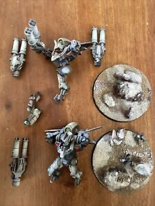 Warhammer 40k Tau Empire Army Tau'nar Project Damaged Bits Lot Parts Auction !!!