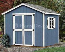Shed Plans, 8 x 8 Garden Storage Gable Roof Style Building Blueprints #20808