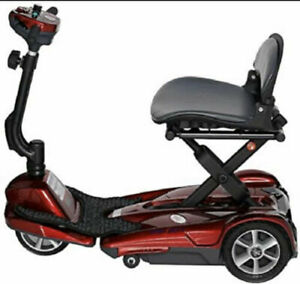 New EV Rider Transport Red MF Manual Folding Mobility Scooter