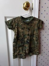 Boys Tiny Trooper CAMO One Piece Romper CAMOUFLAGE Shirt Size 6-9 Months 9M