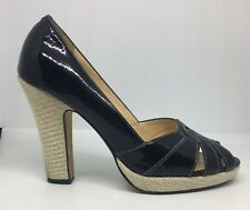 Cole Haan NikeAir Womens Black Patent Leather Heels Sz US 9