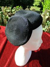 Chapeau vintage (1950) paille et velours noir