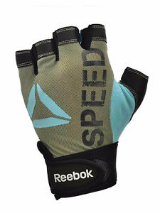 Reebok  Women RAGB-12331SP Speed Training Glove Gray/Blue size XS