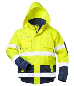 Pilotenjacke neongelb/marine SAFESTYLE® Arbeitsjacke Winterjacke Warnschutzjacke
