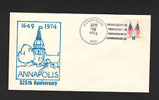POSTAL HISTORY - Annapolis 325th Anniversary U.S. Cancelled Cachet Envelope