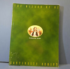 THE WIZARD OF OZ CONTINUITY SCRIPT 1993  REPRINT TURNER Production #1060