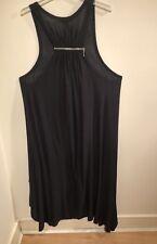 Yong Kim Sleeveless Zip Back Black Dress Size: 16