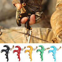 Archery 4 Finger Bow Release Aids Caliper Thumb Trigger Grip Compound Bow Parts