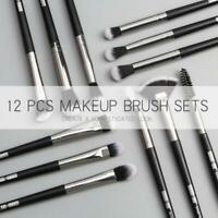 MAANGE 12Pcs Makeup Brushes Set Eye Shadow Blending Eyeliner Eyebrow Brushes