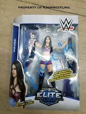 WWE PAIGE SIGNED MATTEL ELITE #34 ACTION FIGURE w/COA NXT BELT 1ST IN LINE DIVA