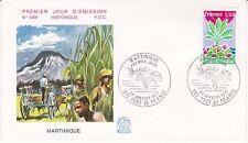 Enveloppe 1er jour FDC n°1005 - 1977 : Région La Martinique
